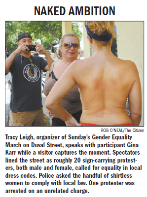 Key West Topless Protest