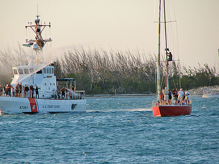 Free Beachers fend off the Coast Guard Invaders